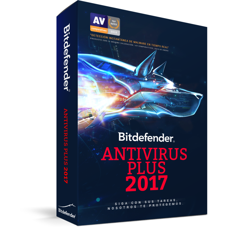 Bitdefender Antivirus Plus 2017 1 year 5 PCs