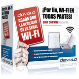 Devolo dLAN 500 WiFi - Starter Kit - puente - 802.11b/g/n - conectable en la pared 2 (las especifica -