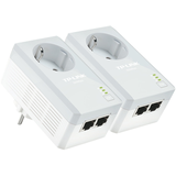 TP-LINK TL-PA4020PKIT AV500 2-Port Powerline Adapter with AC Pass Through - Starter Kit - puente - c -