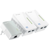 TP-LINK TL-WPA4220T KIT AV500 Powerline Universal WiFi Range Extender, 2 Ethernet Ports, Network Kit -