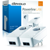 Devolo dLAN 550 duo+ - Starter Kit - puente - conectable en la pared 2 (las especificaciones son par -