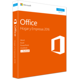 Microsoft Office Home and Business 2016 - caja de embalaje Español 1 licencia Sin materiales -