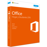 Microsoft Office Home and Student 2016 - caja de embalaje Español 1 licencia Sin materiales -