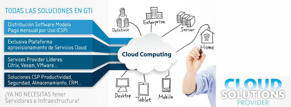 Todas las soluciones Cloud Computing en GTI